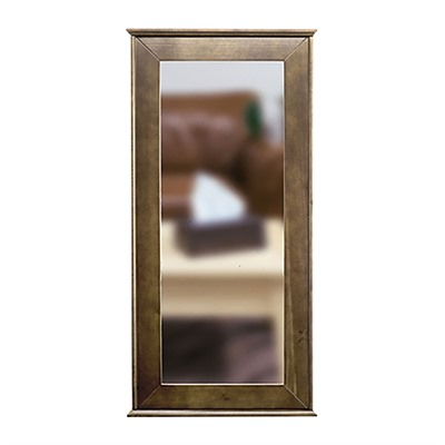 Tactical Walls 1440 Hinged Mid-Length Concealment Mirror - 1440 Hinged Mid-Length Mirror W/Safe Dutch Walnut