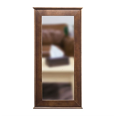Tactical Walls 1440 Hinged Mid-Length Concealment Mirror - 1440 Hinged Mid-Length Mirror W/Safe Cherry