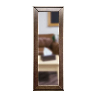 Tactical Walls 1450 Full Length Concealment Mirror - Full Length Mirror With Safe, Dutch Walnut