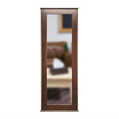 Tactical Walls 1450 Full Length Concealment Mirror - Full Length Mirror With Safe, Cherry