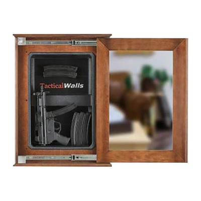 Tactical Walls 1420 Sliding Concealment Mirror - 1420 Sliding Concealment Mirror Cherry