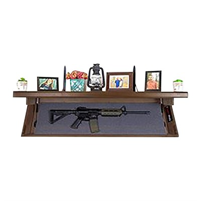 Tactical Walls 1242 Rls Rifle Concealment Shelf - 1242 Rls Rifle Concealment Shelf Dutch Walnut Full Stain