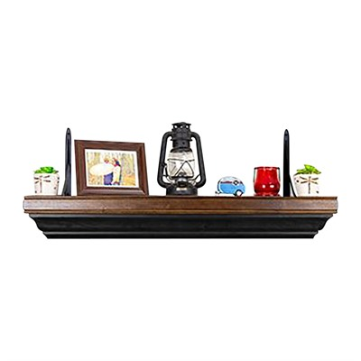 Tactical Walls 825 Double Pistol Shelf - 825 Double Pistol Shelf Dutch Walnut/Black