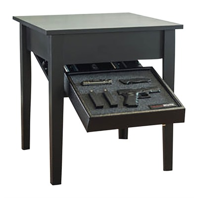 Tactical Walls Concealment End Table - Concealment End Table Black