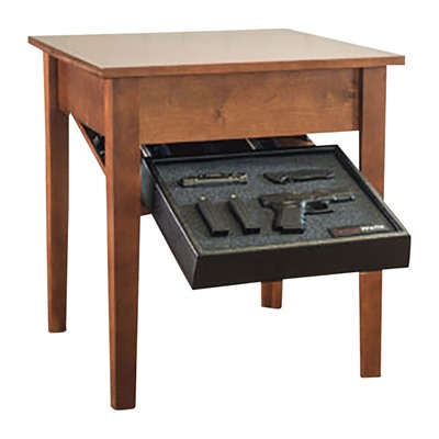 Tactical Walls Concealment End Table - Concealment End Table Cherry