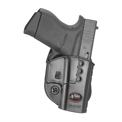 Fobus Holster Evolution Holster Right Hand Paddle - Glock 43/43x/48 Evolution Paddle Holster Black