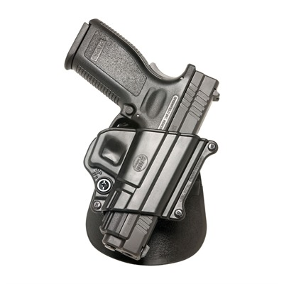 Fobus Holster Compact Holster Paddle Right Hand - H&K P2000 9mm & .40 Compact Paddle Holster Black
