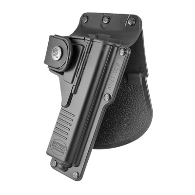 Fobus Holster Tactical Holster Paddle Right Hand - Glock 17 Light/Laser Required Tactical Paddle Holster Blk