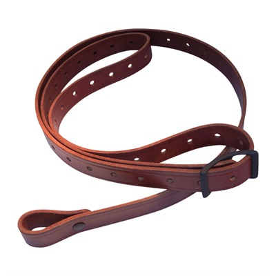 Andys Leather Rhodesian Slings - 1   Rhodesian Sling W/ Black Hardware Swivels Chestnut