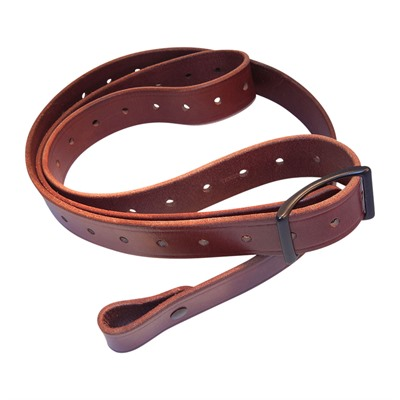 Andys Leather Rhodesian Slings - 1.25   Rhodesian Sling W/Black Hardware No Swivels Chestnut
