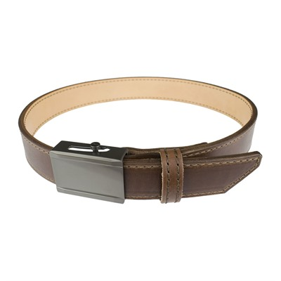 Crossbreed Holsters Men's Crossover Belts - 44   Crossover Belt Brown W/Gun Metal Buckle & Brown Thread