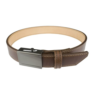 Crossbreed Holsters Men's Crossover Belts - 48   Crossover Belt Brown W/Gun Metal Buckle & Brown Thread