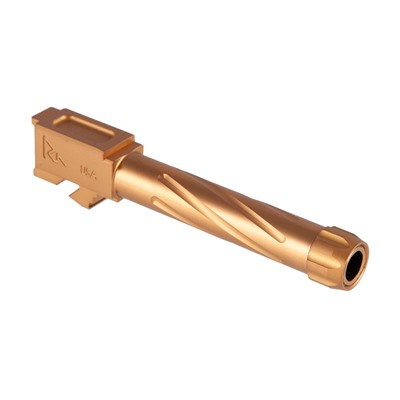 Rival Arms Match Grade Twisted Threaded Barrel For Glock 19 - Match Grade Twisted Threaded Bbl For Glock 19 G3/4 Bronze