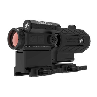 American Defense Manufacturing Duo 3-Spek With Flik3 Magnifier - Spek Red Dot W/T1 Lower Third Co-Witness & Flik3 Magnifier