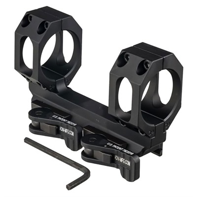 American Defense Manufacturing Recon-S No Offset Scope Mount - 34mm 30 Moa Scope Mount, Black