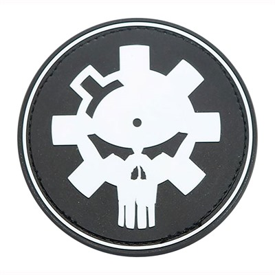 Ar15.Com Patches - Bolt Face Logo Skull White Pvc/Velcro Patch