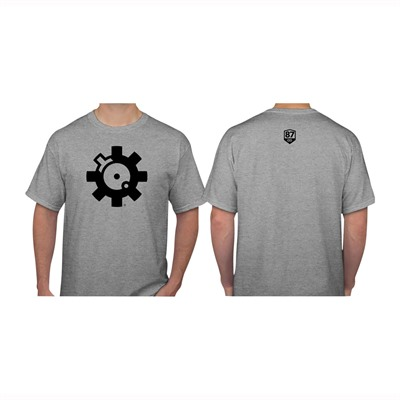 Ar15.Com Bolt Face Logo T-Shirts - Bolt Face Logo T-Shirt Gray 2x-Large