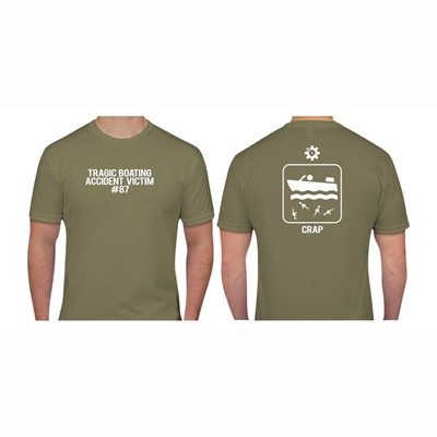 Ar15.Com Boating Accident T-Shirts - Boating Accident T-Shirt Light Olive Small