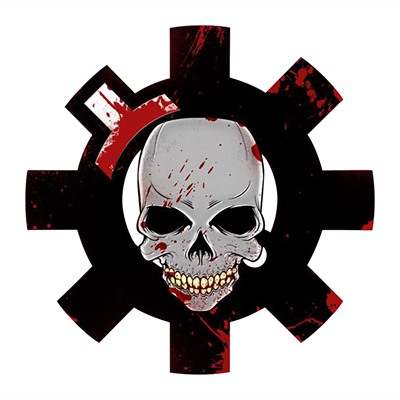 Ar15.Com Stickers - Bfl Bloody Skull Sticker