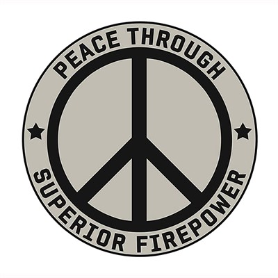 Ar15.Com Stickers - Peace Through Superior Firepower Sticker