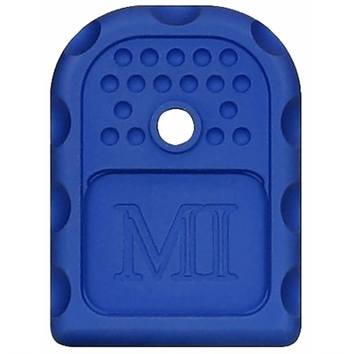 Midwest Industries Magazine Base Plates For Glock9mm/ .40s&W/ .357 Sig - Magazine Base Plate For Glock 9/.40/.357 Blue
