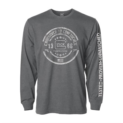 Glock Glock Crossover Long Sleeve T-Shirts - Glock Crossover Long Sleeve T-Shirt Grey Small