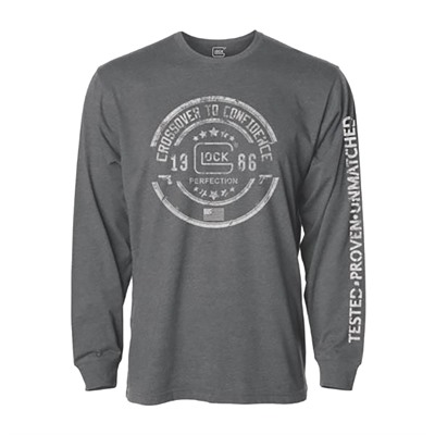 Glock Glock Crossover Long Sleeve T-Shirts - Glock Crossover Long Sleeve T-Shirt Grey 2x-Large