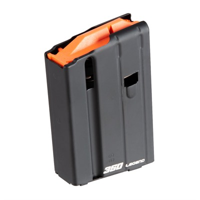 A.S.C. Ammunition Storage Comp Ar-15 .350 Legend Magazine 5-Round - Ar-15 .350 Legend Magazine 5-Round Stainless Steel Black