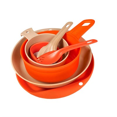 Wildo Outdoor Products Eating Essentials Campware Set Eating Essentials Campware Set Orange/Tan