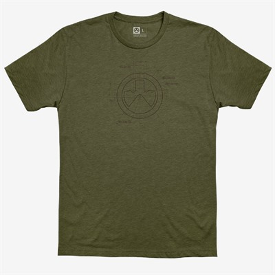 Magpul Engineered Cvc T-Shirts - Engineered Cvc T-Shirt 2x-Large Od Heather