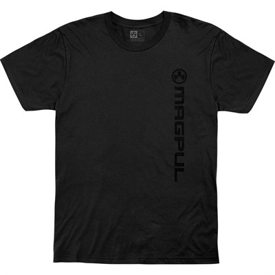 Magpul Vertical Logo Cotton T-Shirts - Vert Logo Cotton T-Shirt Large Black