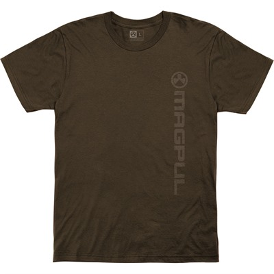 Magpul Vertical Logo Cotton T-Shirts - Vert Logo Cotton T-Shirt 2x Brown