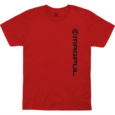 Magpul Vertical Logo Cotton T-Shirts - Vert Logo Cotton T-Shirt Large Red