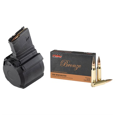 Brownells Bronze .308 Win 147gr Fmj-Bt 500rd Case With D50