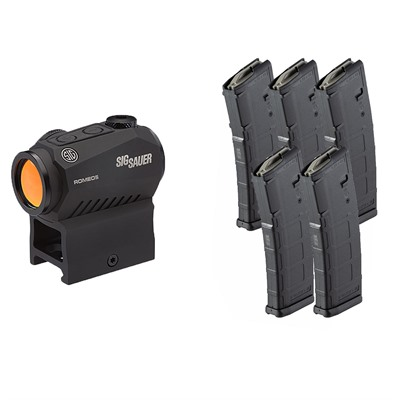 Brownells Sig Romeo5 Red Dot Sight With 5x Pmags