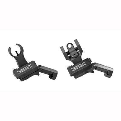 Troy Industries Ar-15 Battlesight Offset Sight Sets - Offset Sight Set- Hk Front & Round Rear Black