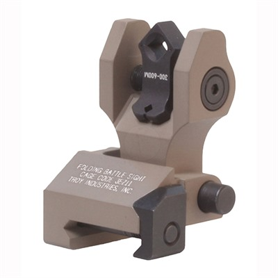 Troy Industries Ar-15 Di-Optic Rear Folding Battlesight - Di-Optic Rear Folding Sight Flat Dark Earth