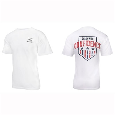 Glock Carry With Confidence T-Shirts - Carry With Confidence T-Shirt White Large