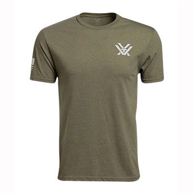 Vortex Optics Short Sleeve Patriot T-Shirts - Short Sleeve Patriot T-Shirt Olive Heather Lg