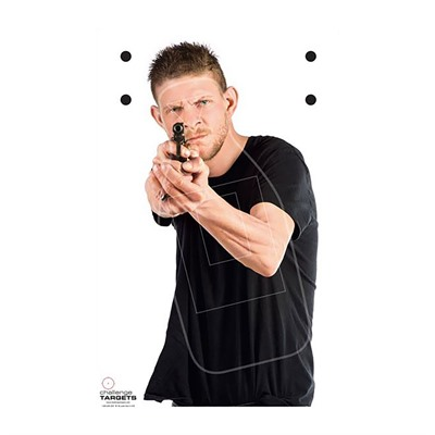 Challenge Targets Realistic Man With A Gun Paper Targets