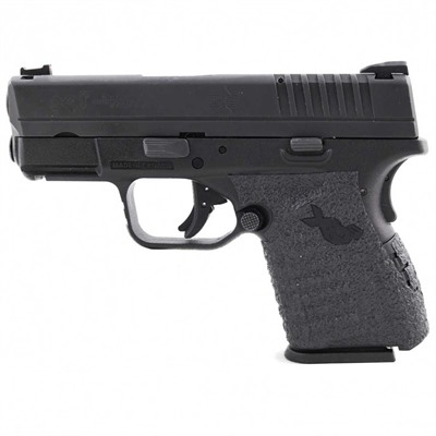 Talon Grips Inc Springfield Xds 9/40/45 Large Grip Tape - Sprinfield Xds 9/40/45 Large Grip Rubber Black
