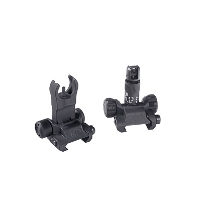 Lewis Machine & Tool Ar-15 Back Up Iron Sight Kit Black