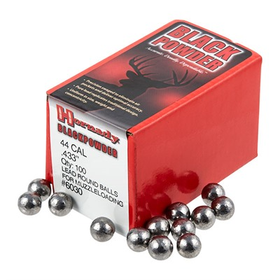 Hornady Round Ball Muzzleloading Bullets - 44 Cal (.433