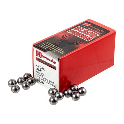 Hornady Round Ball Muzzleloading Bullets - 45 Cal (.457