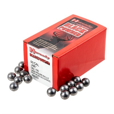 Hornady Round Ball Muzzleloading Bullets 50 Cal 495 Lead