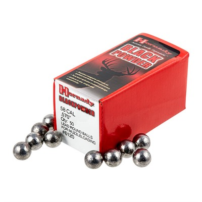 Hornady Round Ball Muzzleloading Bullets - 58 Cal (.570