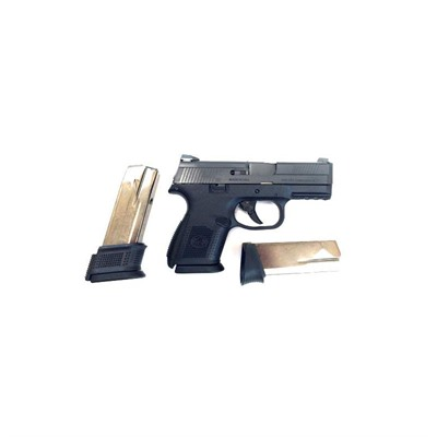 Fns-9c 3.57in 9mm Black Stainless Black Fixed 3-Dot 12+1rd.