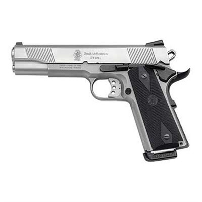 Smith & Wesson Sw1911 Handgun 45 Acp 5in 8 1 108282 Sw1911 Hndgn 45 Acp 5in 8 1 Mat Ss 108282