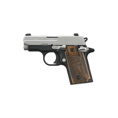 Sig Sauer P238 2.7in 380 Auto Ss Custom Wood Siglite Night Sights 6+1rd
