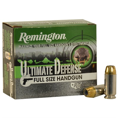 Remington Hd Ultimate Defense Ammo 40 S&W 180gr Bjhp 40 S&W 180gr Brass Jacketed Hollow Point 20/Box